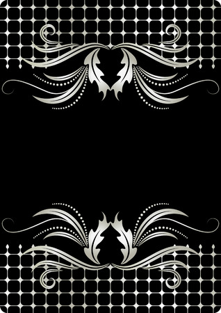 Background with silver ornament for various design artwork Stock Vector - 8212852