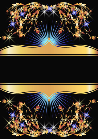 Background with golden ornament for various design artwork Stock Vector - 8212883