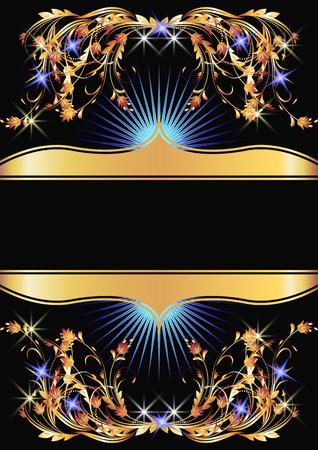 Background with golden ornament for vaus design artwork Stock Vector - 8212883