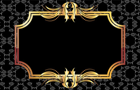 Background with golden ornament for various design artwork Stock Vector - 8212882