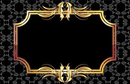 Background with golden ornament for vaus design artwork Stock Vector - 8212882