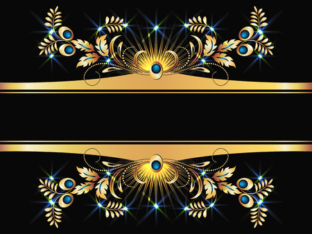 Background with golden ornament for various design artwork Stock Vector - 8282718