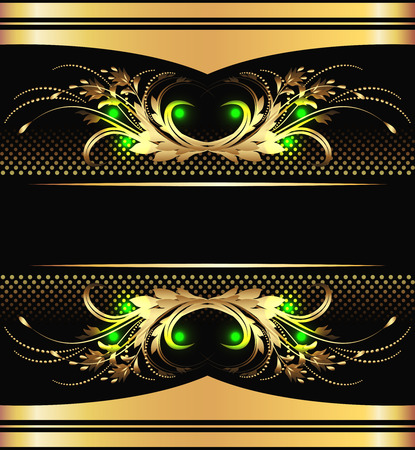 Background with golden ornament for vaus design artwork Stock Vector - 8282716
