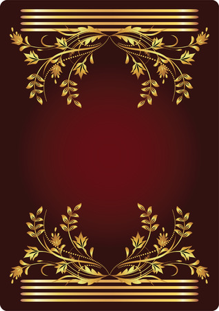 Background with golden ornament for various design artwork Stock Vector - 8282708