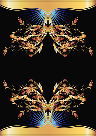 Background with golden ornament for various design artwork Stock Vector - 8348716