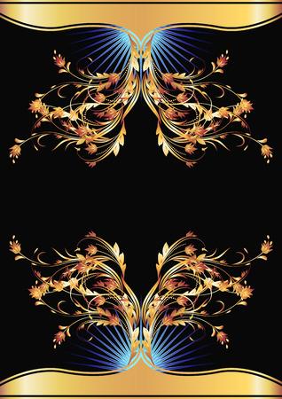 Background with golden ornament for vaus design artwork Stock Vector - 8348716