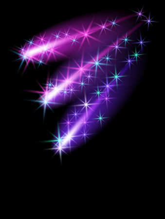Glowing background with stars Stock Vector - 8348789