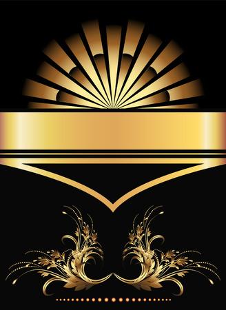 Background with golden ornament for vaus design artwork Stock Vector - 8446020