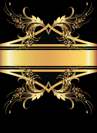 Background with golden ornament for various design artwork Stock Vector - 8446027