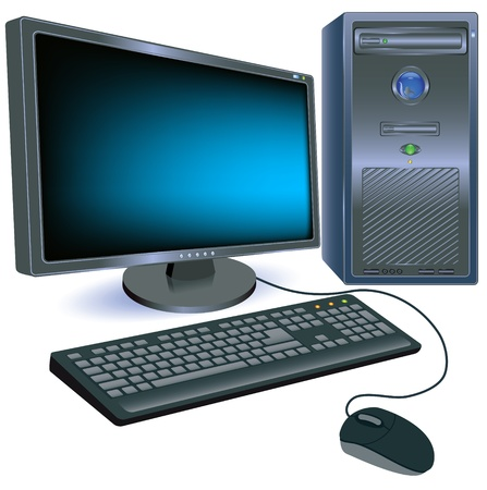 Computer for various design artwork Vector