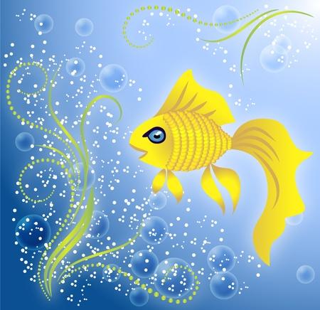 Beautiful Goldfish Stock Vector - 8776329