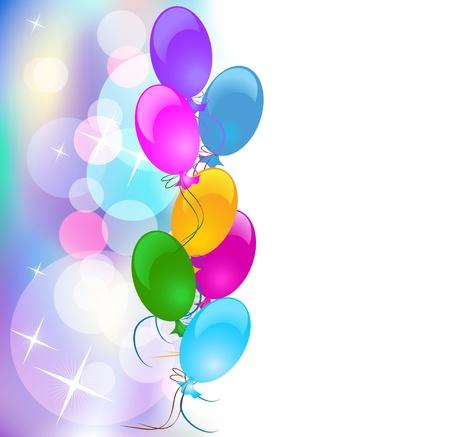 ballons: Arri�re-plan avec des ballons Illustration