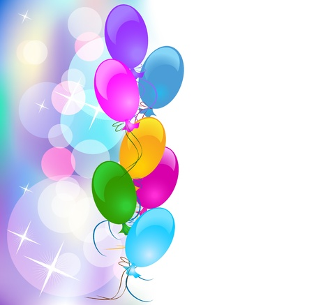 balloons: Background with balloons