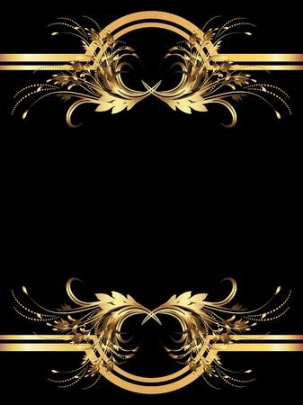 vignette: Arri�re-plan avec golden ornement pour diverses ?uvres de design