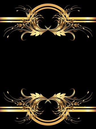 diplomas: Background with golden ornament for various design artwork