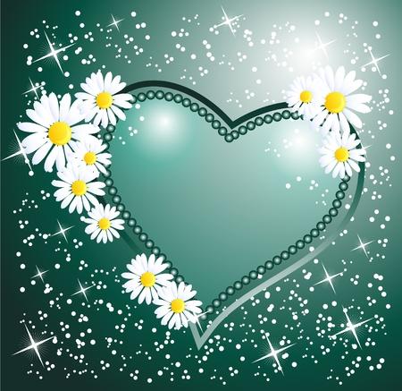 love wallpaper: Tarjeta con coraz�n decorativo