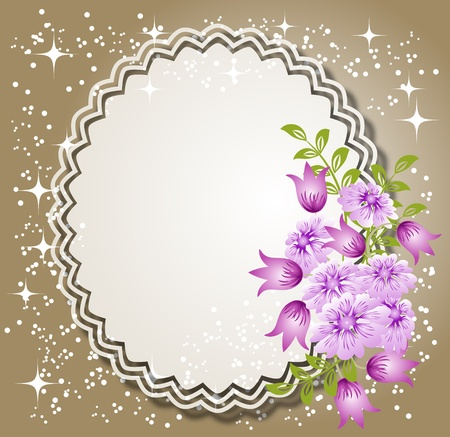transparent brush: Background with flowers and a place for text or photo.