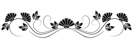 Ornamentos decorativos para diversas obras de arte de diseño  Ilustración de vector