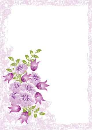 Grunge card with meadow flower Stock Vector - 8776775