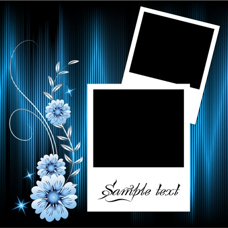 Page layout photo album with ornament Stock Vector - 8776724