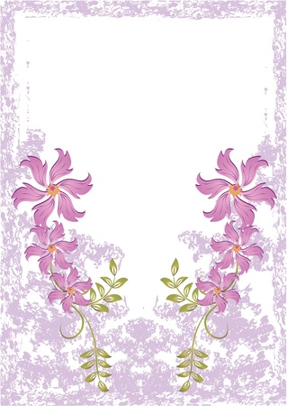celebratory: Grunge card with meadow flowers Illustration