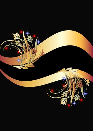 Background with golden ornament Stock Vector - 8776735