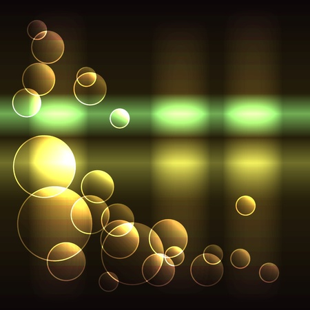 Glowing background with translucent circles