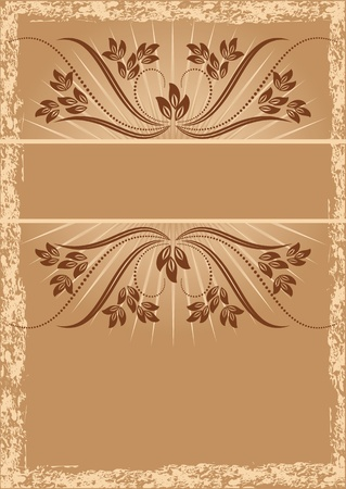 Vintage background with ornament Stock Vector - 8828462