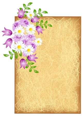 shone: Grunge background with meadow flowers