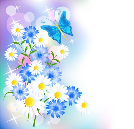 Floral background for an insert of the text or a photo Vector