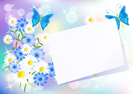 Floral background for an insert of the text or a photo. Vector