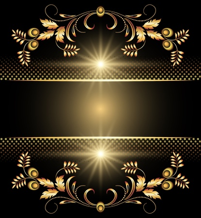 Background with golden ornament for various design artwork Stock Vector - 9375770