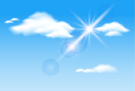 flecks: Sky, clouds  and  sunshine