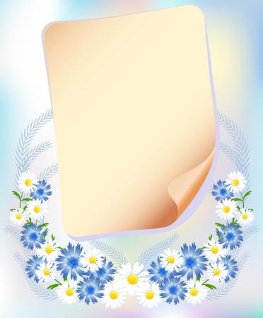Fondo floral para una inserción de texto o una foto.