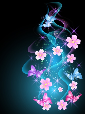 Glowing background with smoke Stock Vector - 9611786
