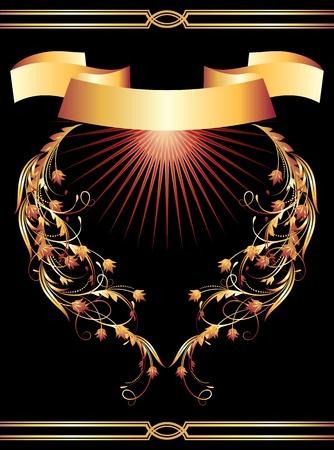 Background with golden ornament for vaus design artwork Stock Vector - 9611799