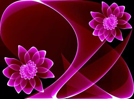 Transparent magic flowers for various design artwork photo