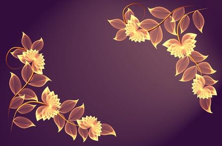 illustrated: Transparent magic flowers for various design artwork