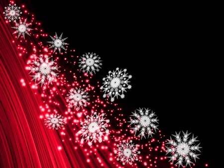 Abstract glowing background with snowflakes photo