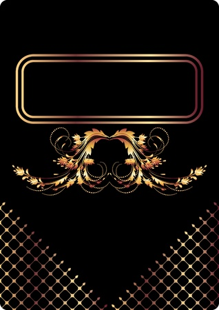 Background with golden ornament for various design artwork Stock Vector - 9810063