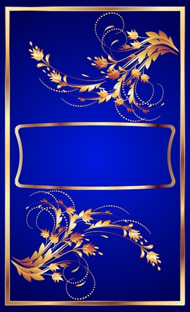 Background with golden ornament for various design artwork Vector