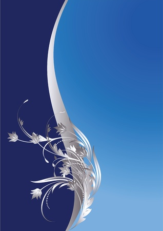 silver picture frame: Background with silver ornament for various design artwork