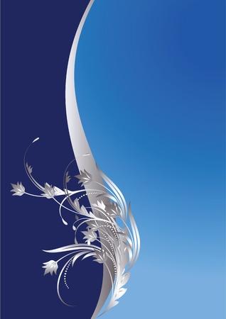 diploma: Fondo con ornamentos de plata para diversas obras de arte de dise�o