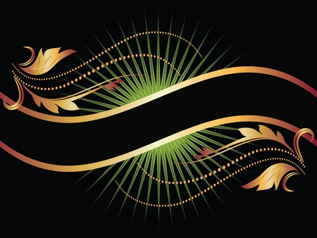 Background with golden ornament for vaus design artwork Stock Vector - 9810053