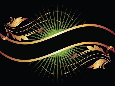 bilderrahmen gold: Hintergrund mit goldenen Ornament f?r verschiedene Design-Kunstwerk