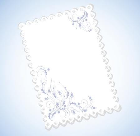 Cloth with lace edges with ornament for inserting text Stock Vector - 9810158