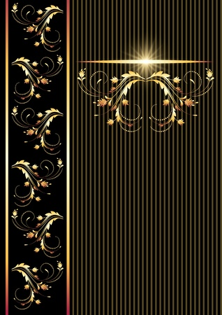 Background with golden ornament for various design artwork Stock Vector - 9810211