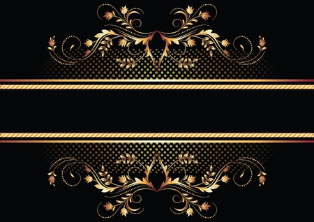 Background with golden ornament for vaus design artwork Stock Vector - 9810230