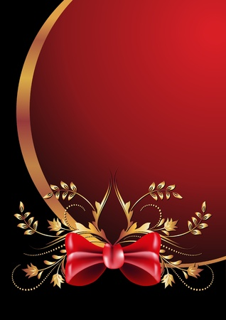 front page: Background with golden ornament for various design artwork