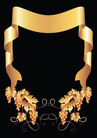 evento corporativo: De fondo con adornos de oro y cinta de vid